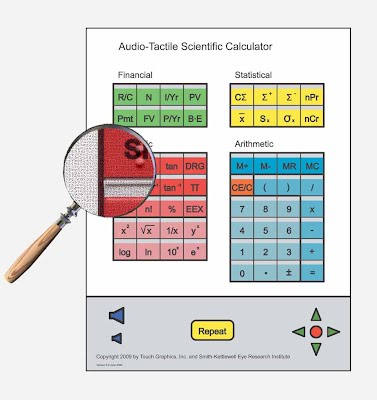 Image of Audio-tactile scientific calculator